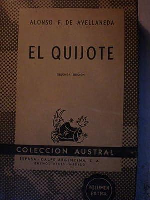 El Quijote: Alonso F. de