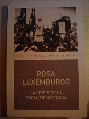 La crisis de la socialdemocracia: Rosa Luxemburgo