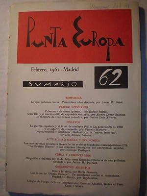 Punta Europa 62. Febrero 1961. Revista: Lucas María Oriol