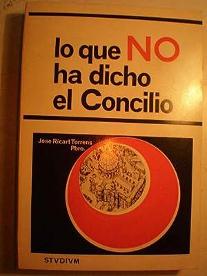 Lo que No ha dicho el Concilio: José Ricart Torrens,