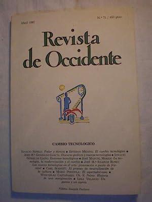 Revista de Occidente Nº 71 - Abril: Ignacio Sotelo -