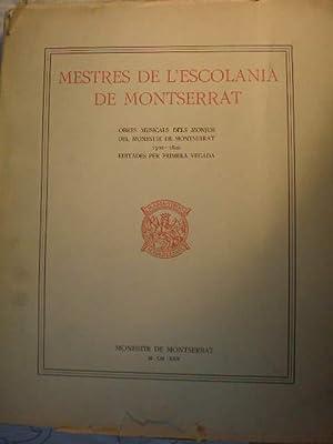 Mestres de l'Escolania de Montserrat. Tomo III.: Dom David Pujol