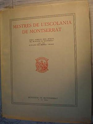 Mestres de l'Escolania de Montserrat. Tomo I.: Joan Cererols -
