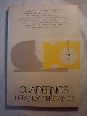 Cuadernos Hispanoamericanos 418 - Abril 1985: Félix Grande (