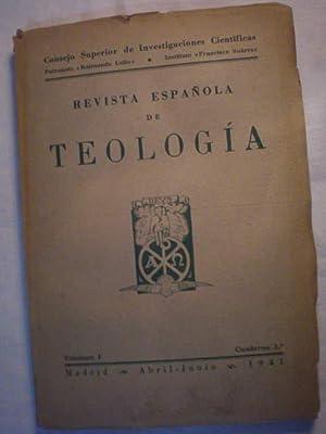 Revista Española de Teología Vol I Cuaderno: José Madoz, SI