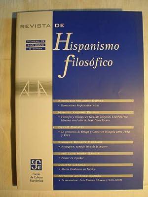 Revista de Hispanismo Filosófico. Nº 13. Año: José Luis Mora