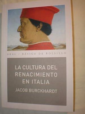La cultura del Renacimiento en Italia: Jacob Burckhardt