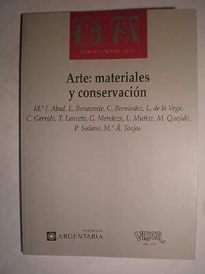 Arte: Materiales y conservación. Debates sobre arte: María José Abad