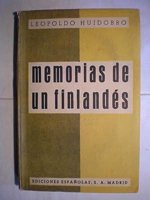 Memorias de un finlandés: Leopoldo Huidobro Pardo