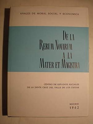 De la Rerum Novarum a la Mater: Luis Sánchez Agesta