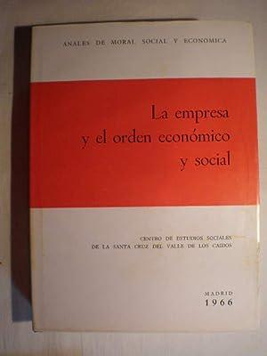 La empresa y el orden económico y: Luis Sánchez Agesta
