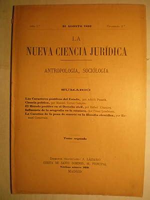 La Nueva Ciencia Jurídica. Antropología, sociología. Año: J. Lázaro (Dir.)