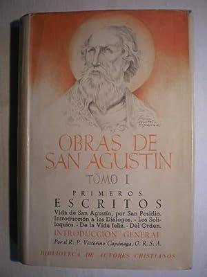 Obras Completas. Tomo I. Primeros escritos. Vida: San Agustín