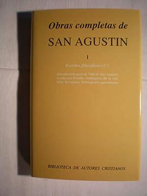 Obras completas. Tomo I. Escritos filosóficos (: San Agustín