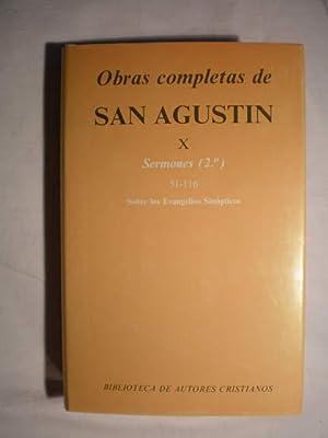 Obras completas. Tomo X. Sermones (2º) 51-116. Sobre los evangelios sinópticos.: San ...