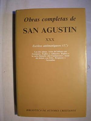 Obras completas. Tomo XXX .Escritos antimaniqueos (: San Agustín