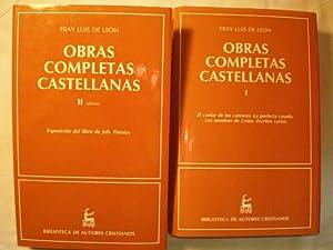 Obras completas castellanas de Fray Luis de Leon. (2 Vols.). Tomo I. Cantar de los cantares. La ...