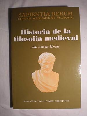 Historia de la filosofía medieval: Jose Antonio Merino