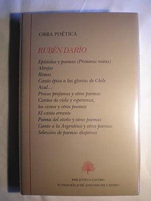 Obra Poética: Epistolas y poemas (Primeras notas).: Rubén Darío
