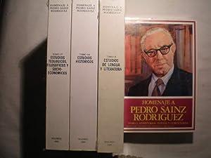 Homenaje a Pedro Sainz Rodríguez. T.I Repertorios,textos y comentarios. T.II Estudios de ...