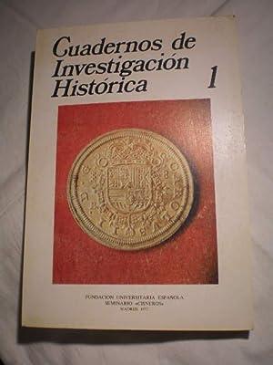 Cuadernos de Investigación histórica. Num. 1, 1977: José Alcala Zamora;
