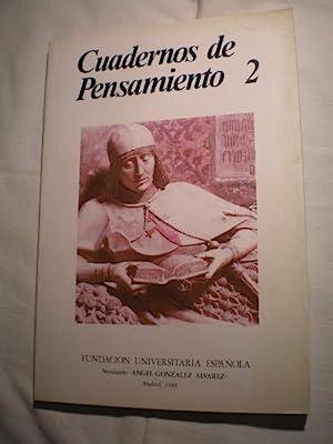 Cuadernos de pensamiento. Num. 2 , 1988.: VV.AA.
