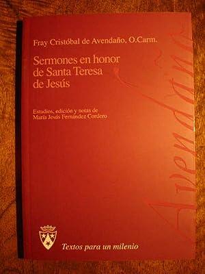 Sermones en honor de Santa Teresa de Jesús: Fray Cristóbal de Avendaño, O. Carm.