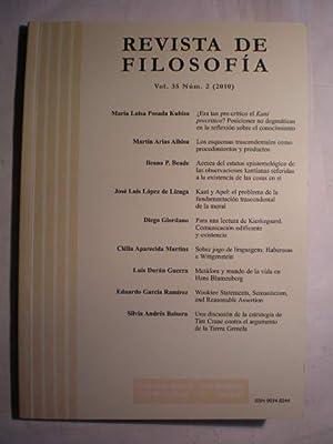 Revista de Filosofía. Vol. 35. Num. 2: María Luisa Posada