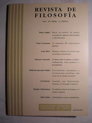 Revista de Filosofía. Vol. 29. Num. 2 (2004): Oscar Nudler - César Lorenzano - León Olivé - ...