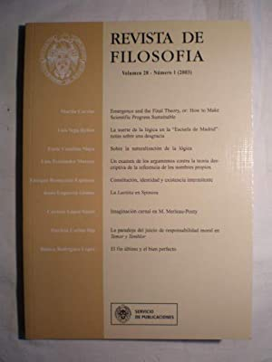 Revista de Filosofía. Volumen 28. Num. 1: Martin Carrier -