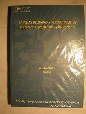 Láminas delgadas y Recubrimientos. Preparación, propiedades y aplicaciones.: Jose ...