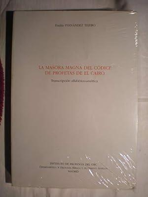 La Masora Magna del Códice de Profetas: Emilia Fernández Tejero
