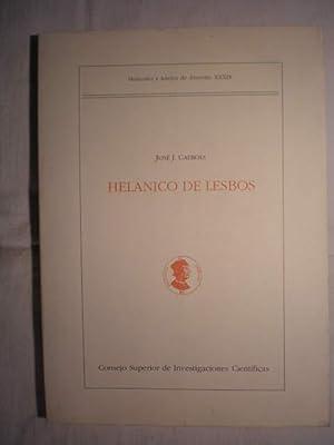 Fragmentos: Helanico de Lesbos