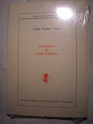 Gramática de copto sahídico.: Sofia Torallas Tovar