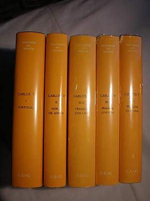 Carlos V .Tratados Internacionales de España (5 Volúmenes). Obra Completa. Tomo I. ...