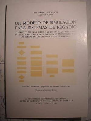 Un modelo de simulación para sistemas de: Raymond L. Anderson,