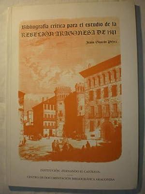 Bibliografía crítica para el estudio de la: Jesús Gascón Pérez