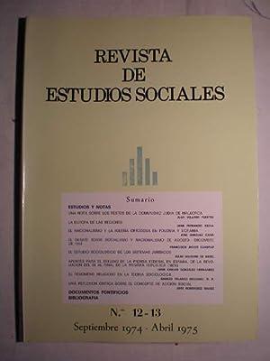 Revista de Estudios Sociales Nº 12-13 Septiembre: Juan Velarde Fuertes