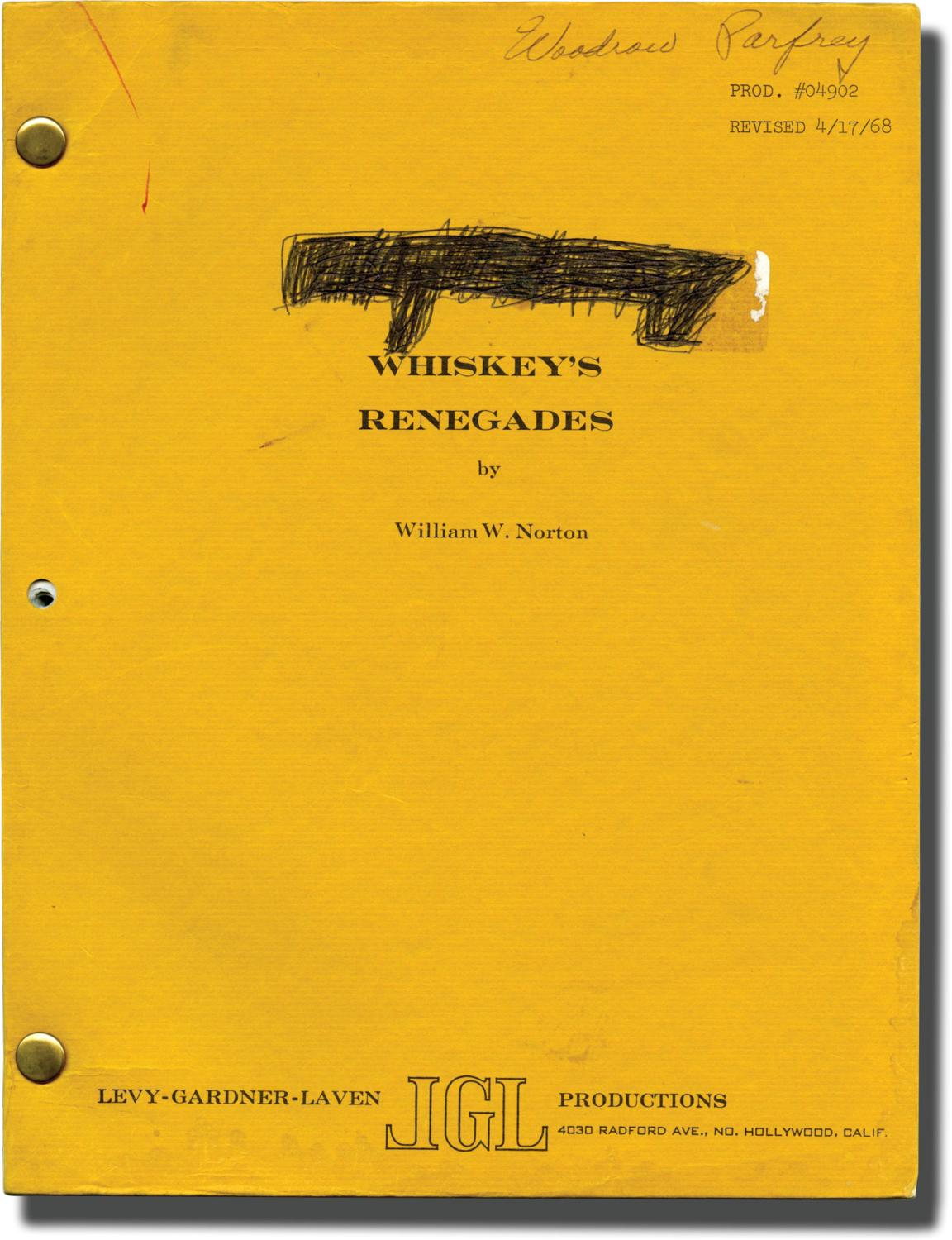 Sam Whiskey [Whiskey's Renegades] (Original screenplay for the 1969 film) Laven, Arnold (director, producer); William W. Norton (screenwriter); Burt