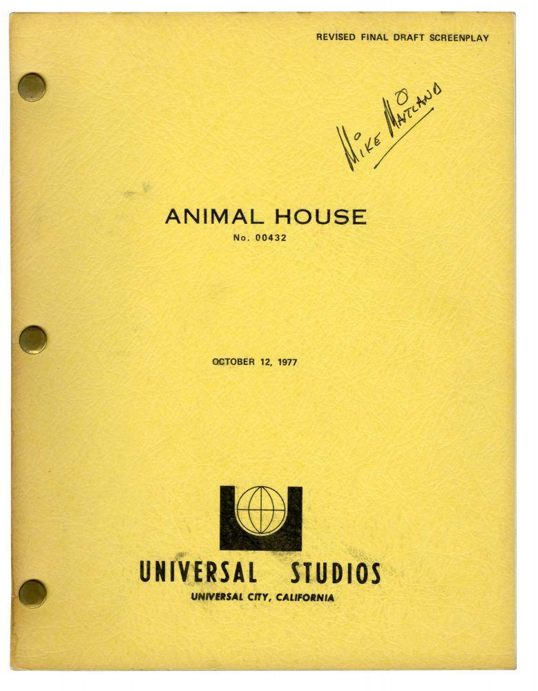 Animal House (Original screenplay for the 1978 film): Landis, John (director); Harold Ramis (...