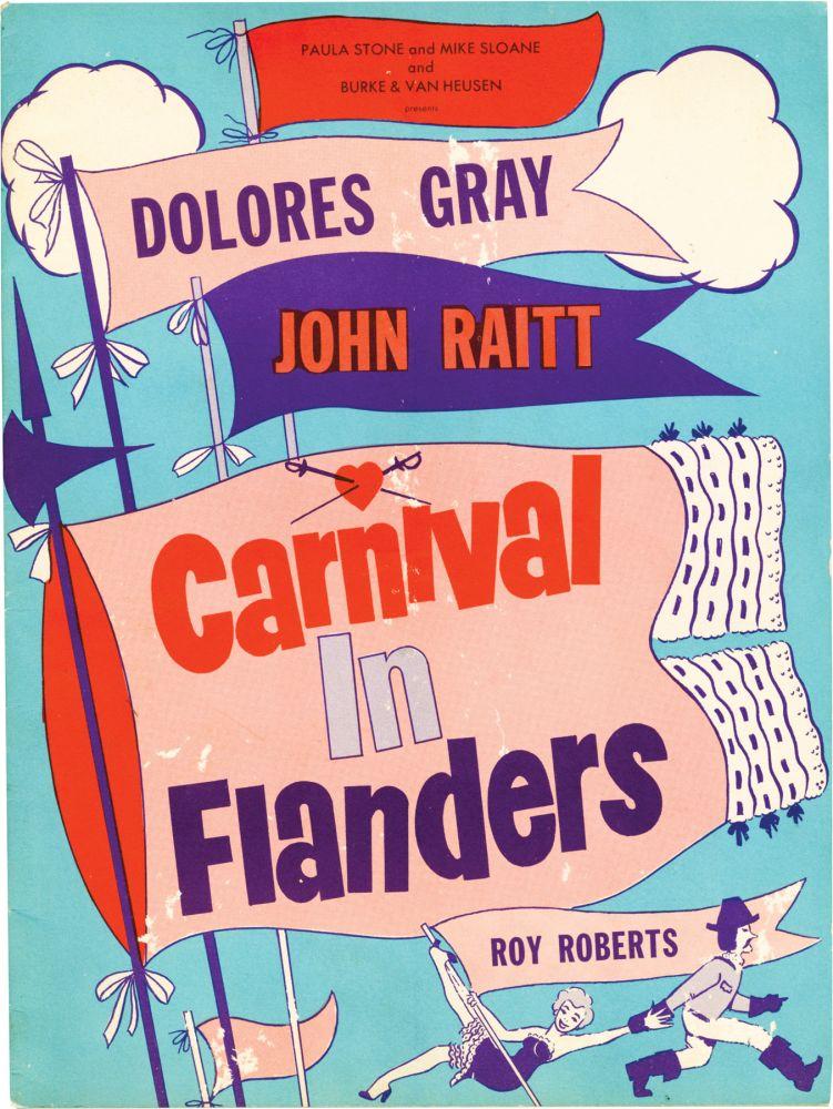 Carnival In Flanders Original Program From The 1953 Play Par Sturges Preston Director Playwright Dolore Gray John Raitt Starring N P N P Royal Books Inc Abaa Carnival in Flanders