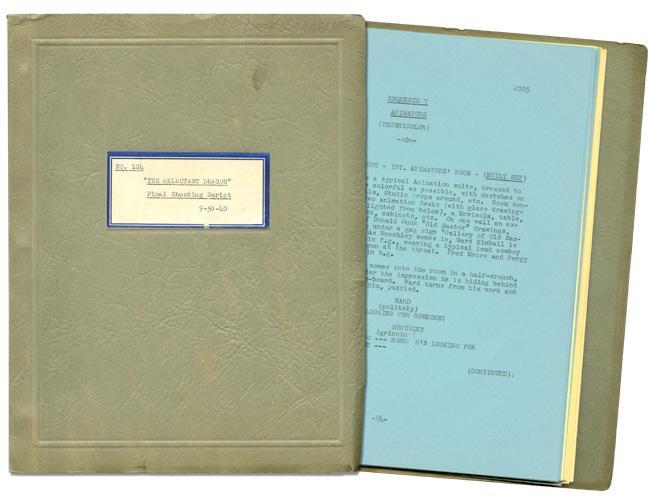 The Reluctant Dragon (Original screenplay, copy belonging to Disney producer-director Ben ...