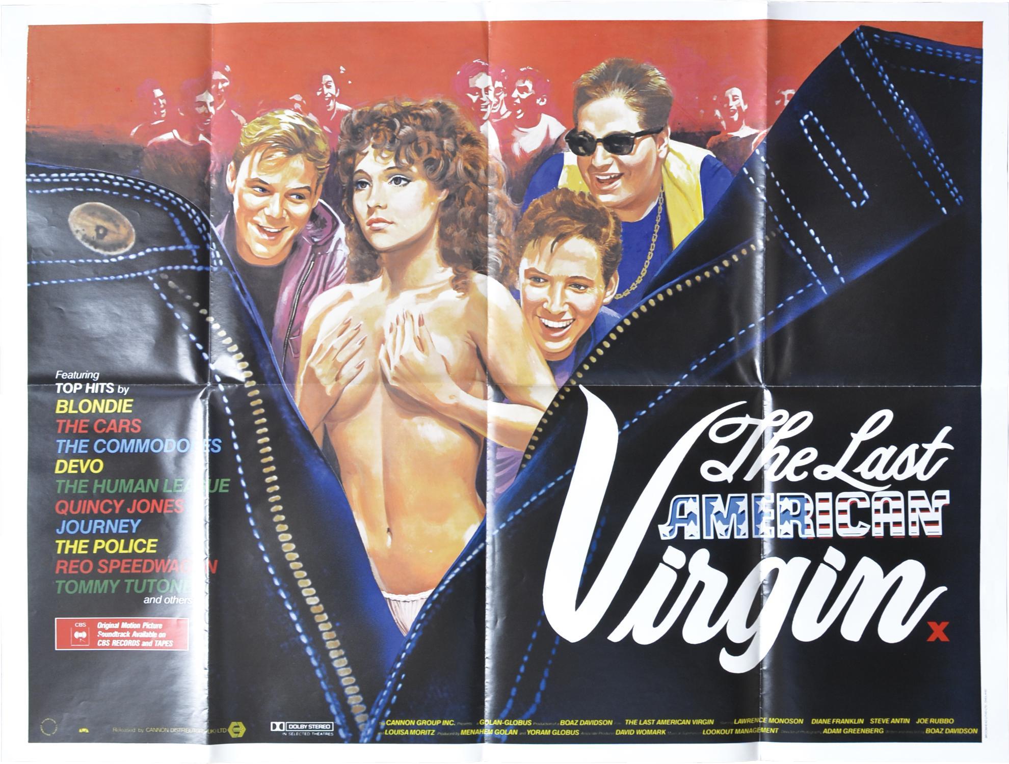 The Last American Virgin (Original British poster for the 1982 film) Davidson, Boaz (director, screenwriter); Lawrence Monoson, Diane Franklin, Steve