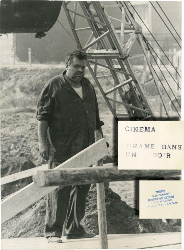 Crack in the Mirror (Original double weight photograph of Orson Welles from the set of the 1960 ...