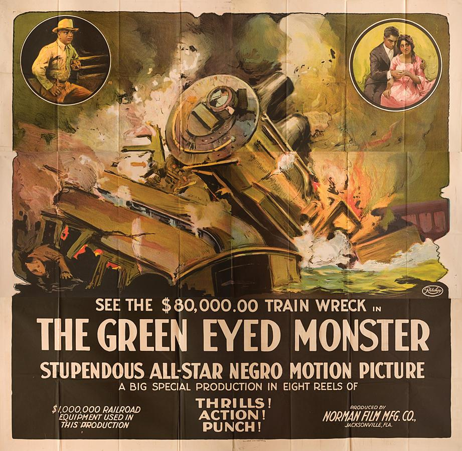 The Green-Eyed Monster (Original six sheet poster for the 1919 silent film): Norman, Richard (...