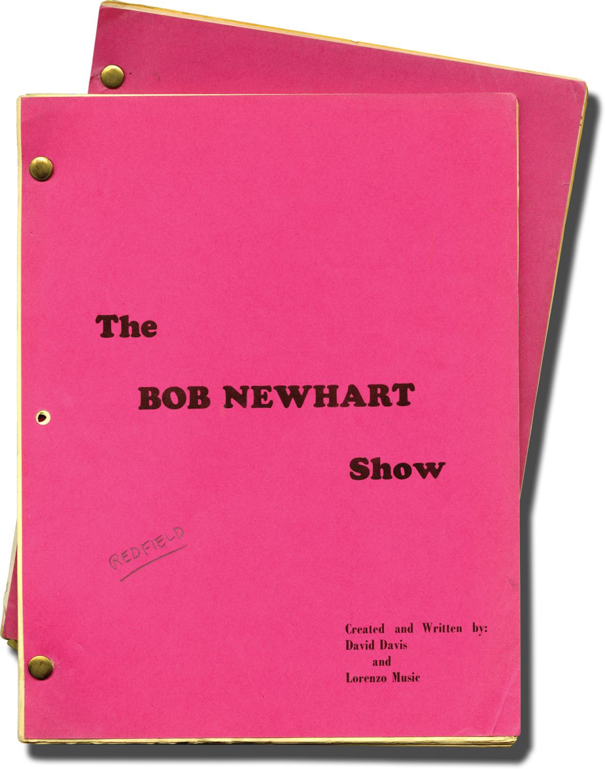 The Bob Newhart Show: P-I-L-O-T [Pilot] (Two original screenplays for the 1972 television episode, actor William Redfield's copies) Sandrich, Jay (di