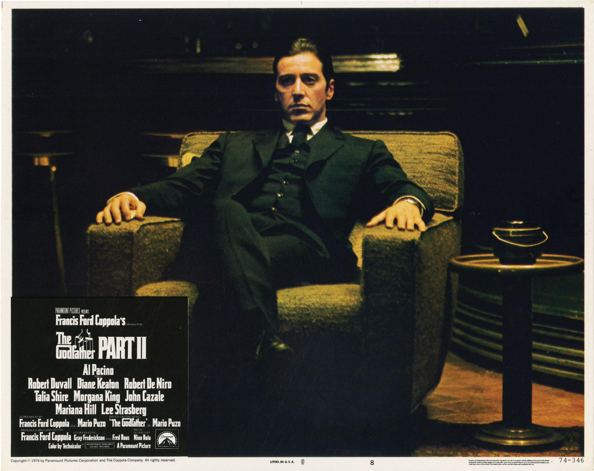 The Godfather, Part II (Complete US lobby card set for the 1974 film) Coppola, Francis Ford (director); Mario Puzo (novel); Nino Rota (composer); Rob