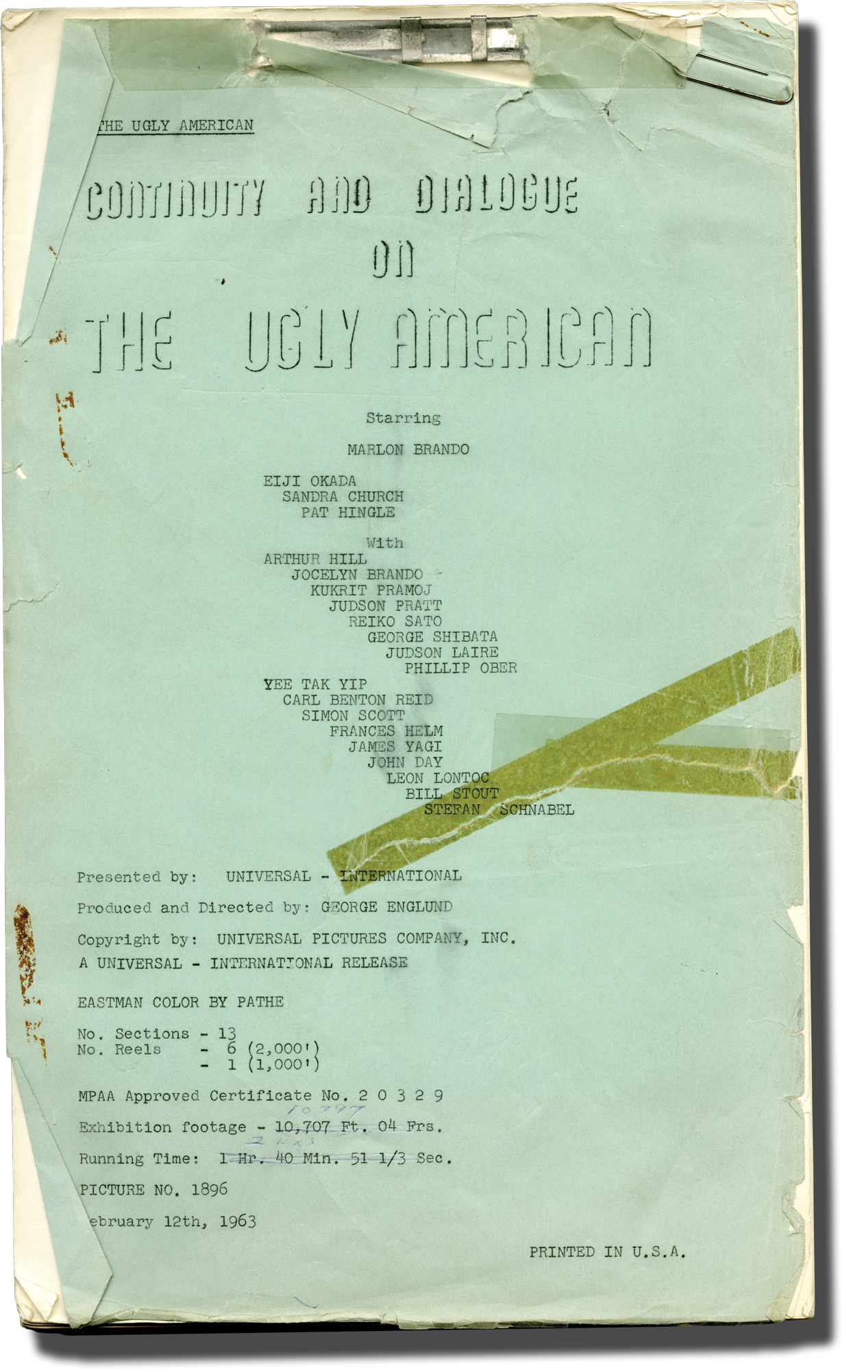 Film Script: Manuscripts & Paper Collectibles - AbeBooks