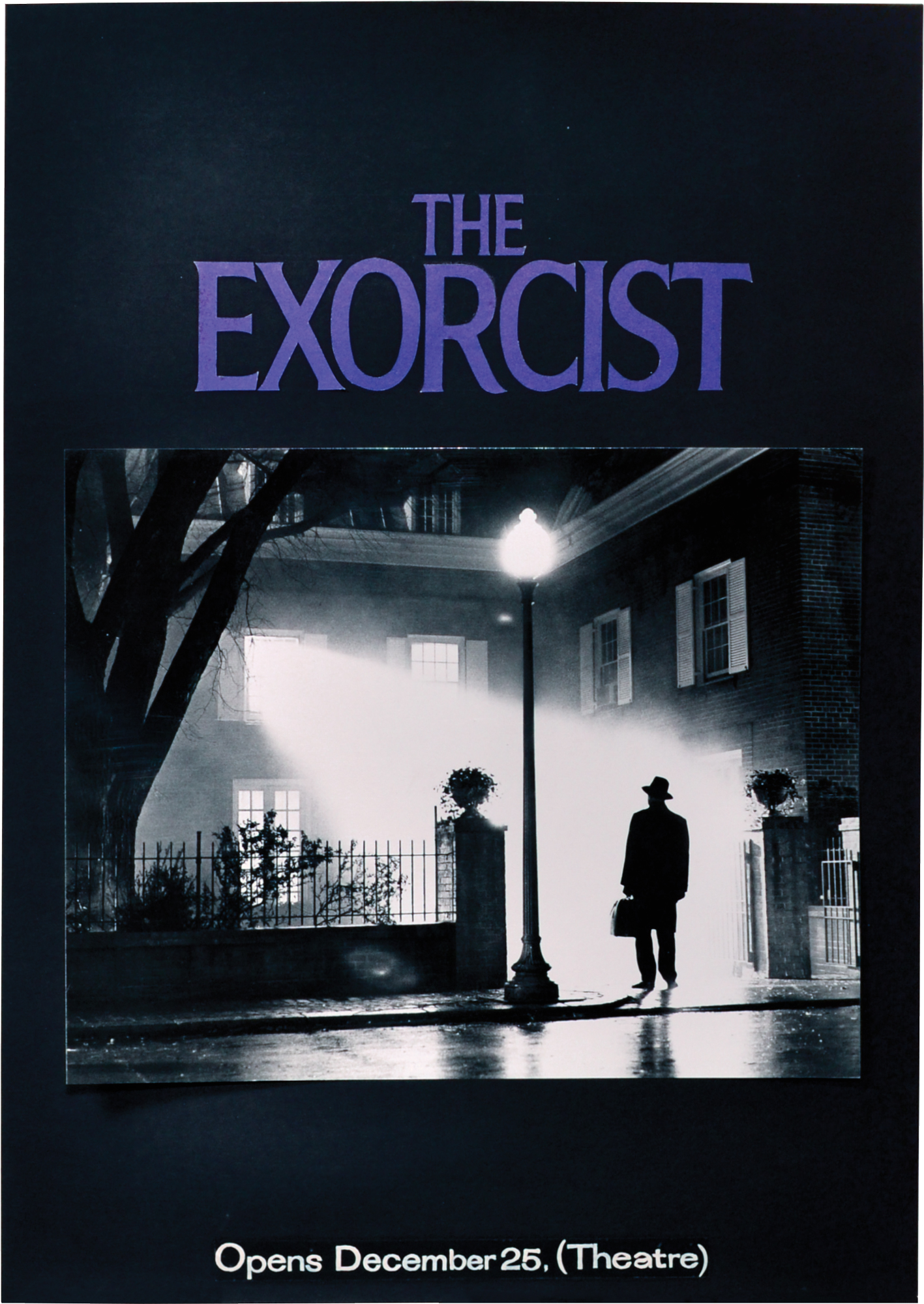 The Exorcist (Original poster maquette for the 1973 film) by Friedkin,  William (director); Bill Gold (poster design); William Peter Blatty  (screenwriter); Ellen Burstyn, Max von Sydow, Lee J. Cobb, Linda Blair  (starring): (
