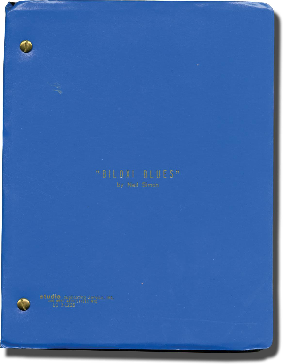 Biloxi Blues Original Script For The 1985 Play By Saks Gene